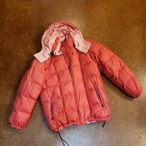 Pink ski jacket